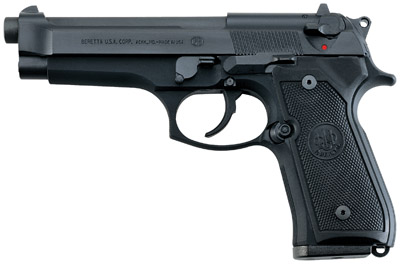 Beretta 92FS Italy 9mm 4.9″ 15+1 Synthetic Grip Bruniton Black